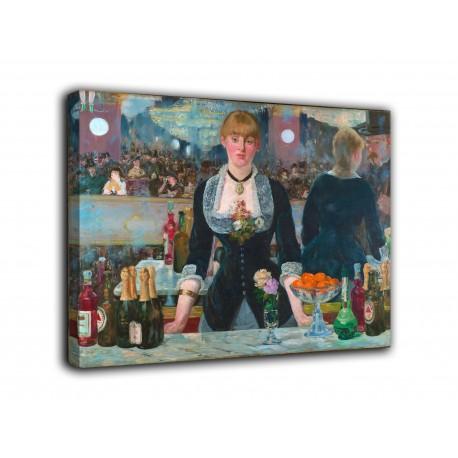 Cadre Le bar des Folies Bergère - Edouard Manet - impression sur toile avec ou sans cadre
