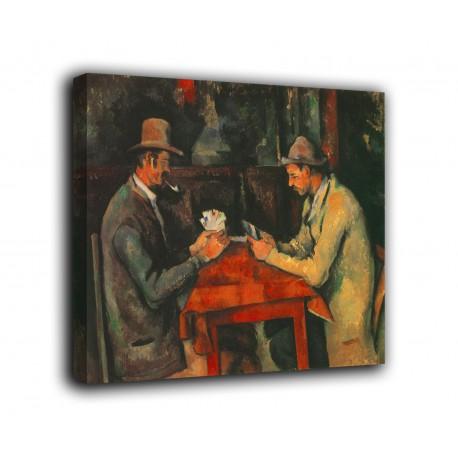Quadro I giocatori di carte - Paul Cézanne - stampa su tela canvas con o senza telaio