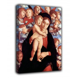 Framework Madonna and Child with a choir of cherubim - Andrea Mantegna - print on canvas with or without frame