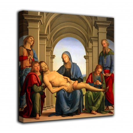 The framework of Piety - Perugino - print on canvas with or without frame