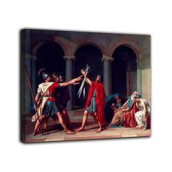 La pintura de el juramento de los Horacios - Jacques-Louis David Pintar imprimir en lienzo, con o sin marco