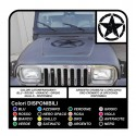 Sticker STAR military consumed 50 cm x Jeep RENEGADE COMPASS offroad DEFENDER