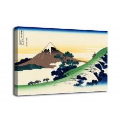 Picture Sunset through the bridge of Ryōgoku - Katsushika Hokusai - print on canvas with or without frame