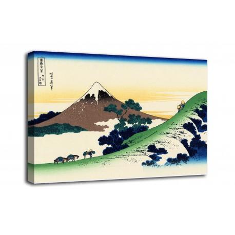 Marco El paso de Inume a Kōshū - Katsushika Hokusai - impresión en lienzo con o sin marco