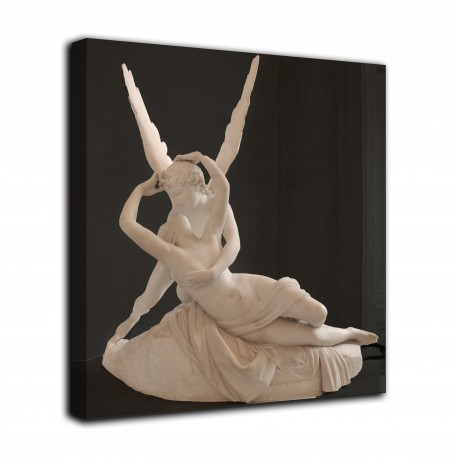 The framework of Love and Psyche - Canova - print on canvas with or without frame