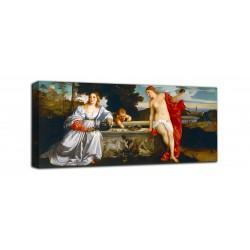 Rahmen Amor Sacro und Amor Profano - Tizian - druck auf leinwand, leinwand mit oder ohne rahmen