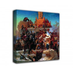 The framework Storming the Teocalli - Emanuel Leutze print on canvas with or without frame