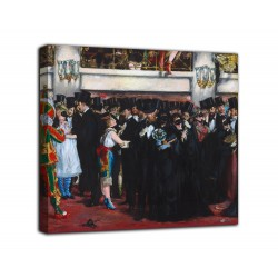 Painting masked Ball at the Opera - Edouard Manet - print on canvas with or without frame