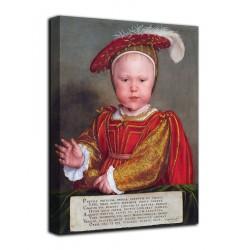 Rahmen-Porträt von Edward VI kind - Hans Holbein der Jüngere - druck auf leinwand, leinwand mit oder ohne rahmen