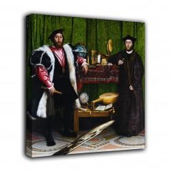 Rahmen Die botschafter - Hans Holbein der Jüngere - druck auf leinwand, leinwand mit oder ohne rahmen