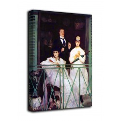 Im rahmen Des balkon - Édouard Manet - druck auf leinwand, leinwand mit oder ohne rahmen