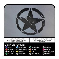 2 STICKERS 25 cm STAR for off-road JEEP RENEGADE DEFENDER VITARA RAV4 PAJERO