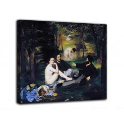 Rahmen Das frühstück auf dem gras - Édouard Manet - druck auf leinwand, leinwand mit oder ohne rahmen