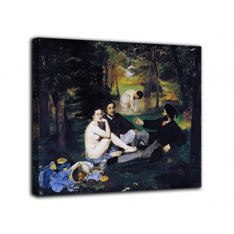 Painting the luncheon on The grass - Edouard Manet - print on canvas with or without frame