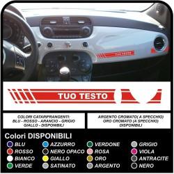 Adhésif de fixation de tableau de bord pour la FIAT 500 avec le texte ABARTH ou Personnalisé autocollant de décalque