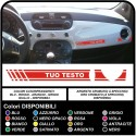 Adhesive dash mount for the FIAT 500 with the text ABARTH or Custom sticker decal