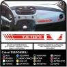 Adesivi cruscotto per FIAT 500 con testo ABARTH o Personalizzato sticker decal