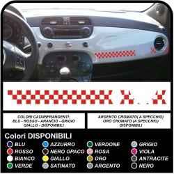Adesivi cruscotto per FIAT 500 striscia cruscotto scacchi KIT cruscotto