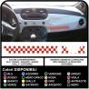Aufkleber für den FIAT 500 ABARTH bänder tettino dach schachbrett schach sticker decal