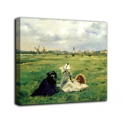 The framework of The swallows - Edouard Manet - print on canvas with or without frame