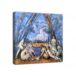 Peinture Les grandes baigneuses - Paul Cézanne - impression sur toile avec ou sans cadre