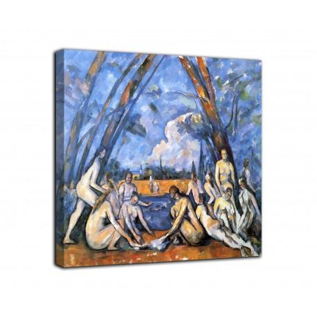 La pintura de las grandes bañistas - Paul Cézanne - impresión en lienzo con o sin marco