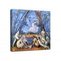 Bild Die großen badenden - Paul Cézanne - druck auf leinwand, leinwand mit oder ohne rahmen