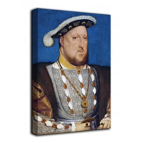 Rahmen Porträt von Henry VIII von England - Hans Holbein der Jüngere - druck auf leinwand, leinwand mit oder ohne rahmen