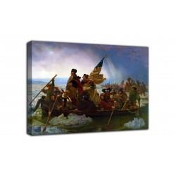Le cadre de Whashington par le biais de la Dalaware - Emanuel Leutze - impression sur toile avec ou sans cadre
