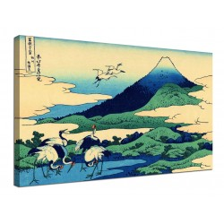Quadro Umezawa nella Provincia di Sagami - Katsushika Hokusai - stampa su tela canvas con o senza telaio