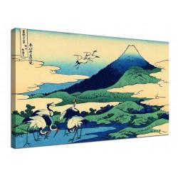 The framework Umezawa in the Province of Sagami - Katsushika Hokusai - print on canvas with or without frame