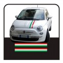 Stickers for FIAT 500 KIT bands Italian flag bonnet and boot lid stripes tricolor flag stickers italy