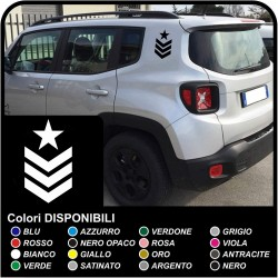stickers degrees SGT star graduate sergeant for the rear jeep renegade stickers Jeep Renegade