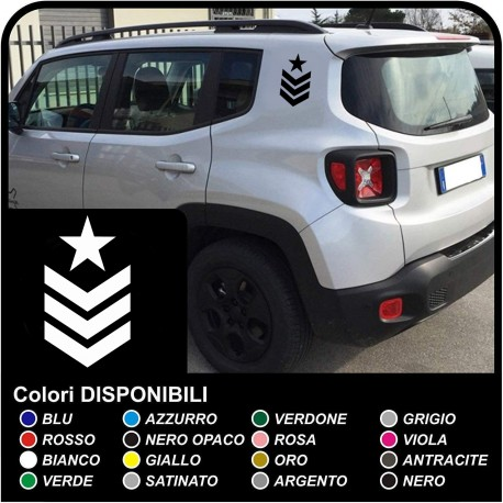 stickers degrees SGT star graduate sergeant for the rear jeep renegade stickers Jeep Renegade