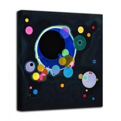 Quadro Alcuni cerchi - Vassily Kandinsky - stampa su tela canvas con o senza telaio