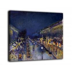 Quadro Boulevard Montmartre di notte - Camille Pissarro - stampa su tela canvas con o senza telaio