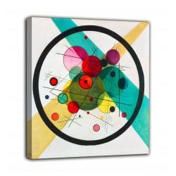 Quadro Cerchi in un cerchio - Vassily Kandinsky - stampa su tela canvas con o senza telaio