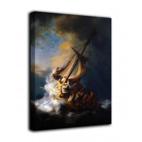 Quadro Cristo nella tempesta sul mare di Galilea - Rembrandt - stampa su tela canvas con o senza telaio