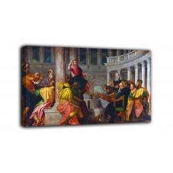 Quadro Disputa di Gesù con i dottori del Tempio - Veronese - stampa su tela canvas con o senza telaio