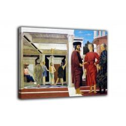 Quadro Flagellazione di Cristo - Piero Della Francesca - stampa su tela canvas con o senza telaio