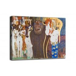 Quadro Fregio di Beethoven, Le forze ostili - Gustav Klimt - stampa su tela canvas con o senza telaio