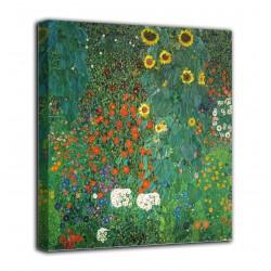 Quadro Giardino di campagna con girasoli - Klimt - stampa su tela canvas con o senza telaio