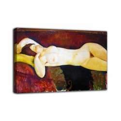 Painting Large reclining nude - Modigliani - print on canvas with or without frame