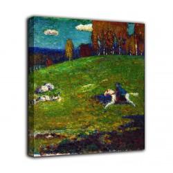 Cadre Le chevalier bleu - Vassily Kandinsky - impression sur toile avec ou sans cadre