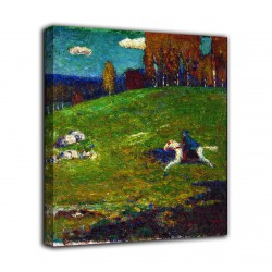 Framework The blue knight - Vassily Kandinsky - print on canvas with or without frame