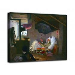 Quadro Il povero poeta - Carl Spitzweg - stampa su tela canvas con o senza telaio