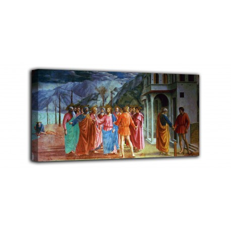 The framework of The tribute - Masaccio - print on canvas with or without frame