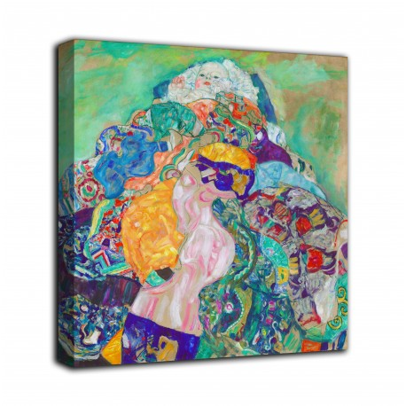The framework of The cot - Gustav Klimt - print on canvas with or without frame