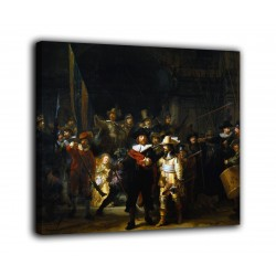 La peinture de La ronde de nuit - Rembrandt - impression sur toile avec ou sans cadre