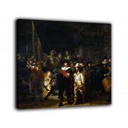 La pintura de La noche, un reloj de Rembrandt - impresión en lienzo con o sin marco